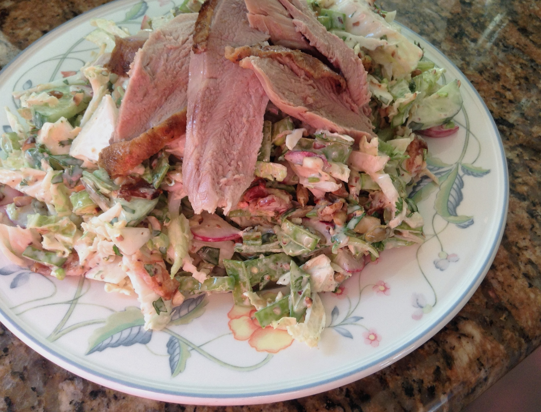Crispy Chinese Duck with California Slaw