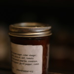 Jar of delightful homemade ketchup for your pantry