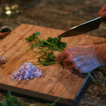 Chop the parsley and shallots